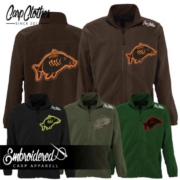 013 EMBROIDERED FLEECE JACKET